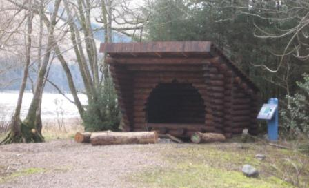 Glas Dhoire shelter and fire pit