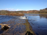 Breach at Cullochy Weir